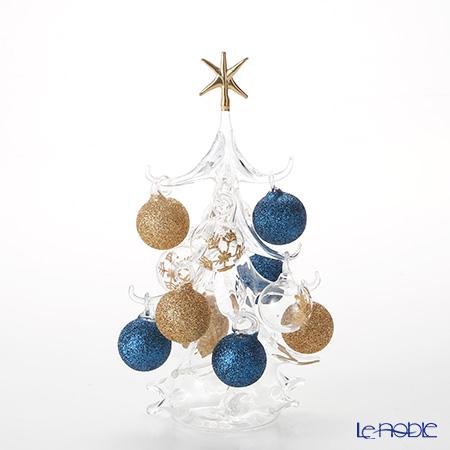 パリーゼ クリスマスツリー M 22cm NN/4/1(249) ブルーゴールド【楽ギフ_包装選択】 置物 オブジェ インテリア