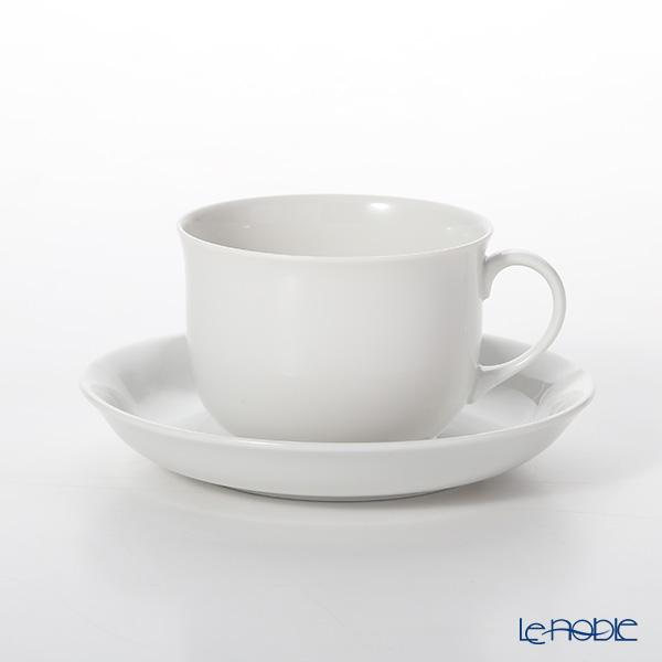アウガルテン (AUGARTEN) シューベルトホワイト(1000) コーヒーカップ&ソーサー 0.15L(056)【楽ギフ_包装選択】 ティーカップ カップアンドソーサー 引き出物 結婚祝い 食器