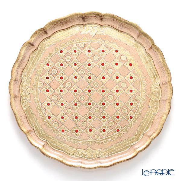 最新最全の フィレンツェトレイ ラウンド 33.5cm ピンク/ゴールド LP2163【楽ギフ 33.5cm_包装選択】, 仁木町:0f40f968 --- psicologia153.dominiotemporario.com