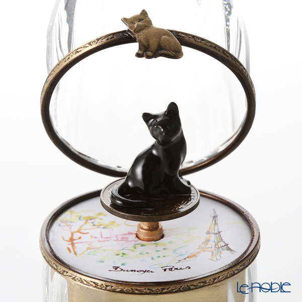 エッグボックス クリスタル 黒猫(オルゴール付:子守唄/ブラームス)【楽ギフ_包装選択】 新生活 置物 オブジェ インテリア