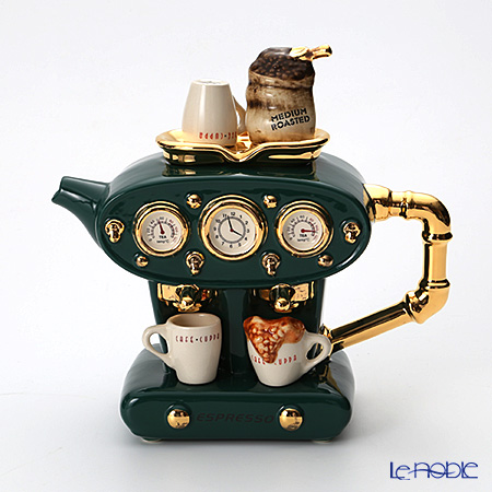 ティーポッタリー Teapottery ダブルエスプレッソマシン(グリーン) L【楽ギフ_包装選択】