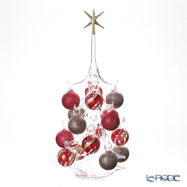 パリーゼ クリスマスツリー L H32cm NN/2/1(280) レッド&メタル1【楽ギフ_包装選択】 ガラス おしゃれ 置物 オブジェ インテリア