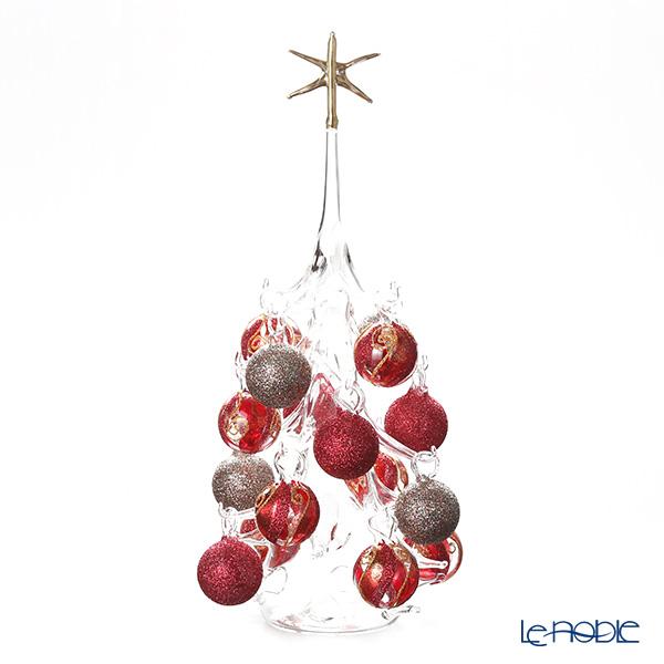 パリーゼ クリスマスツリー L H32cm NN/2/1(281) レッド&メタル2【楽ギフ_包装選択】 ガラス おしゃれ 置物 オブジェ インテリア