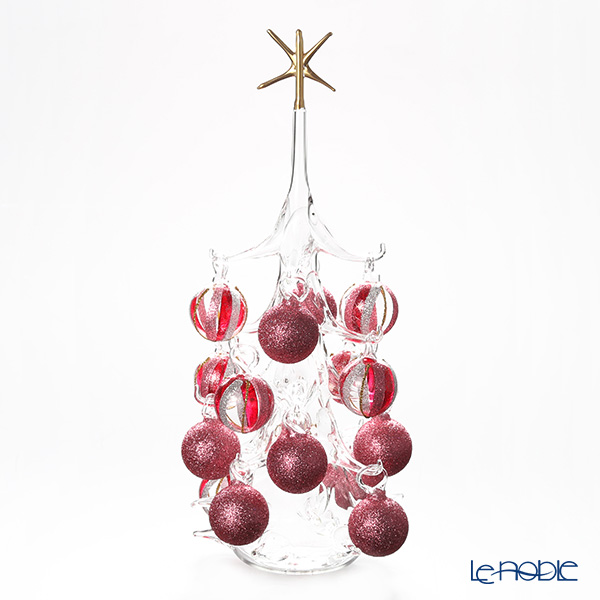 パリーゼ クリスマスツリー L H32cm NN/2/1(285) レッド系&シルバー【楽ギフ_包装選択】 ガラス おしゃれ 置物 オブジェ インテリア