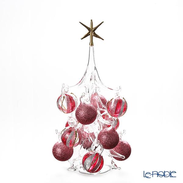 パリーゼ クリスマスツリー M H22cm NN/4/1(285) レッド系&シルバー【楽ギフ_包装選択】 ガラス おしゃれ 置物 オブジェ インテリア
