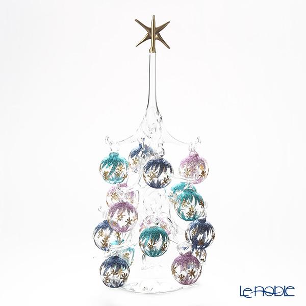 パリーゼ クリスマスツリー L H32cm NN/2/1(286) 紫&ターコイズ【楽ギフ_包装選択】 ガラス おしゃれ 置物 オブジェ インテリア