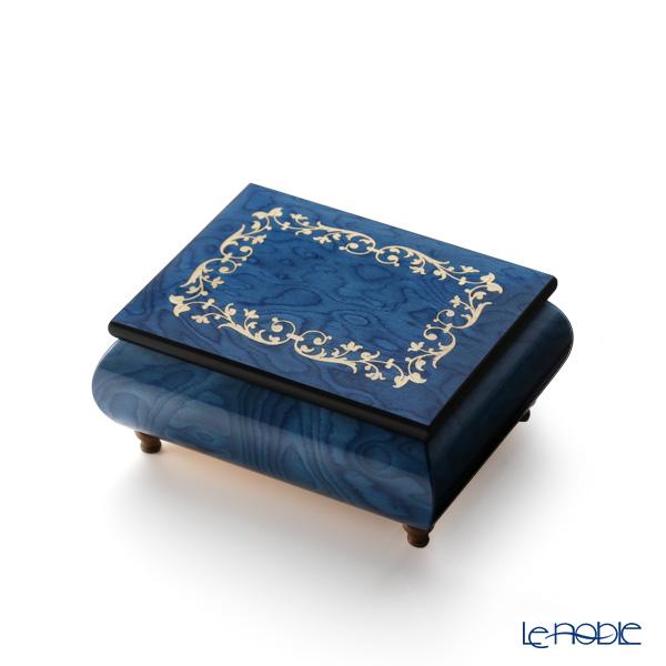 エルコラーノ イタリア象嵌オルゴール(金平糖の踊り) フレーム ブルー