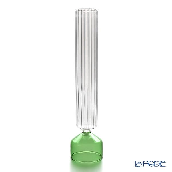 イッケンドルフ ブーケ カローレ ベース グリーン/オプティック 40cm【楽ギフ_包装選択】 耐熱性ガラス 花瓶 フラワーベース おしゃれ ギフト