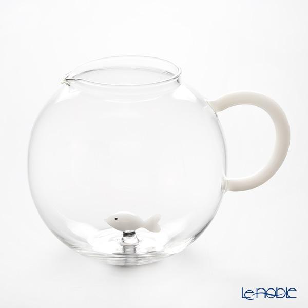 イッケンドルフ アニマルファーム ジャグ フィッシュ ホワイト 2L(満水容量)【楽ギフ_包装選択】 耐熱性ガラス 食器 おしゃれ ブランド
