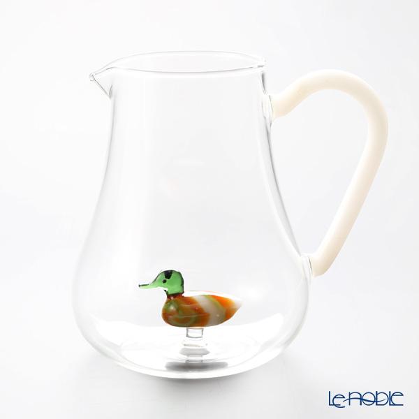 イッケンドルフ アニマルファーム ジャグ ダック グリーン 1.4L(満水容量)【楽ギフ_包装選択】 耐熱性ガラス 食器 おしゃれ ブランド