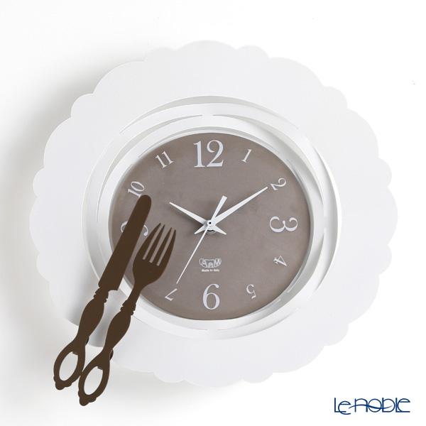 アルティ・エ・メスティエリ 壁掛け時計 ブランチタイム ホワイト 直径35cm 鉄製【楽ギフ_包装選択】 おしゃれ