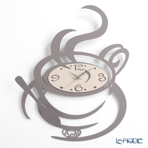 アルティ・エ・メスティエリ 壁掛け時計 コーヒーカップ グレー 45×55.5cm 鉄製【楽ギフ_包装選択】 ギフト