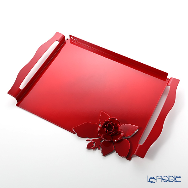 キッチン 用品 雑貨 調理 アルティ・エ・メスティエリ ローズブーケ トレイ レッド 46.5×32.5cm 鉄製 キッチン 用品 雑貨 調理