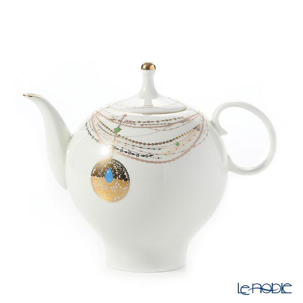 ロシア食器 インペリアル・ポーセリン ゴールデンメダリオン ティーポット(アップル) ブランド 結婚祝い 内祝い