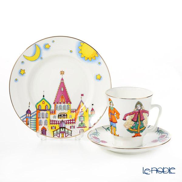 ロシア食器 インペリアル・ポーセリン バレエコレクション 3ピースセット せむしの仔馬 食器セット お祝い 結婚祝い ブランド 内祝い