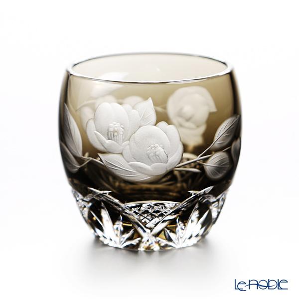 カガミクリスタル 冷酒杯 T535/2873BLK 2月・椿 グラス ショットグラス ぐい呑み ギフト 食器 ブランド 結婚祝い 内祝い