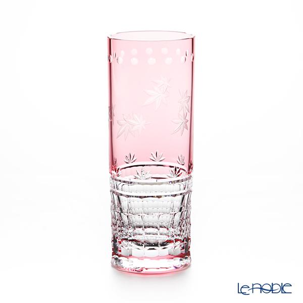 カガミクリスタル ロングタンブラー T744/2881CAU 10月・紅葉 グラス ギフト 食器 ブランド 結婚祝い 内祝い