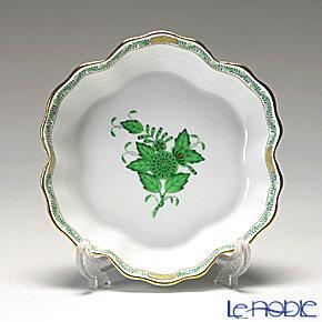 ヘレンド(HEREND) アポニーグリーン 02497-0-00/7779 クッキーディッシュ【楽ギフ_包装選択】 プレート 皿 食器 おしゃれ ブランド