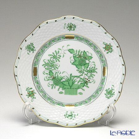 ヘレンド(HEREND) インドの華グリーン 00517-0-00/517 プレート 19cm 皿 お皿 食器 ブランド 結婚祝い 内祝い