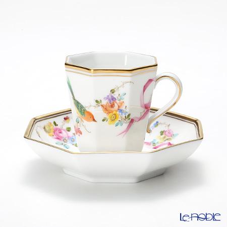 ヘレンド(HEREND) 地中海の庭 JM 04307-0-00 モカカップ&ソーサー(オクタゴナル) 地中海の庭(JM) シノワズリ 食器 ブランド 結婚祝い 内祝い