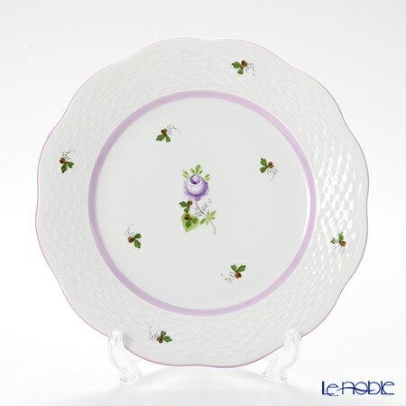 ヘレンド(HEREND) ウィーンのバラ ライラック 00517 プレート 19cm 皿 お皿 食器 ブランド 結婚祝い 内祝い