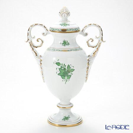 ヘレンド(HEREND) アポニーグリーン 06491-0-23 ベース(ふた付) 36cm【楽ギフ_包装選択】 花瓶 おしゃれ フラワーベース