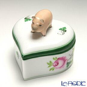 ヘレンド(HEREND) ウィーンのバラ 06111-0-72 ハートボックス(ブタ)【楽ギフ_包装選択】 ウィーンのバラ(VRH)