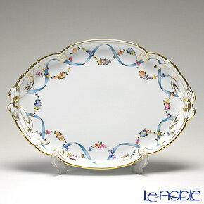 ヘレンド(HEREND) フラワーリボン 20400-0-00 パーティートレイ 38cm【楽ギフ_包装選択】 フラワーリボン(FLR) プレート 皿 食器 おしゃれ ブランド