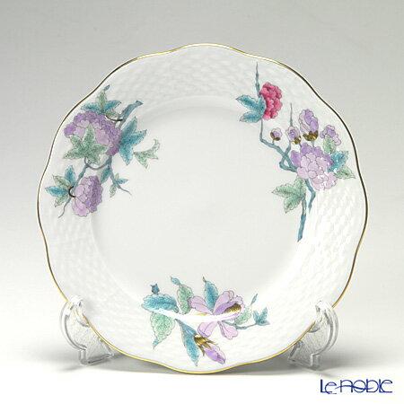 ヘレンド(HEREND) ロイヤルガーデン EVICTF2(フラワー) 00517-0-00 プレート 19cm ターコイズ ロイヤルガーデン EVICT2 シノワズリ 皿 お皿 食器 ブランド 結婚祝い 内祝い