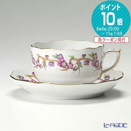 ヘレンド(HEREND) ヴィクトリア PDVICT1 20724-0-00 ティーカップ&ソーサー 200cc ピンク おしゃれ かわいい 食器 ブランド 結婚祝い 内祝い