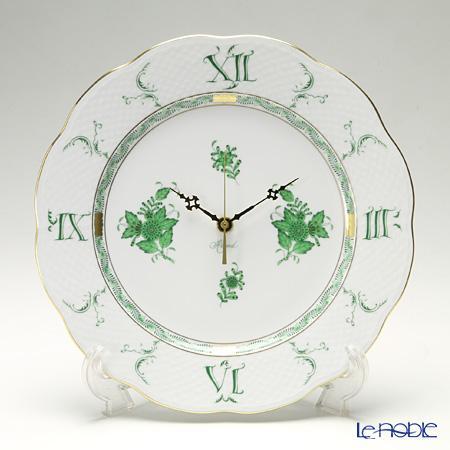 ヘレンド(HEREND) アポニーグリーン 00527-0-47 ウォールクロック 28cm【楽ギフ_包装選択】 掛け時計 壁掛け時計