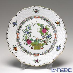ヘレンド(HEREND) インドの華多彩色 00517-0-00/517 プレート 19cm 皿 お皿 食器 ブランド 結婚祝い 内祝い