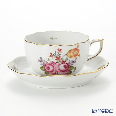 ヘレンド(HEREND) ザクセンフラワー VBSO-1 00724-0-00/724 ティーカップ&ソーサー 200cc おしゃれ かわいい 食器 ブランド 結婚祝い 内祝い