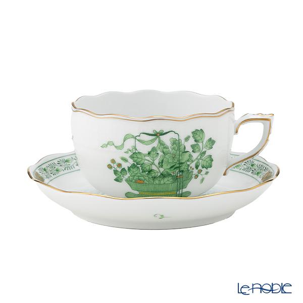 ヘレンド(HEREND) 清の花籠 CN 00724-0-00/724 ティーカップ&ソーサー 200cc おしゃれ かわいい 食器 ブランド 結婚祝い 内祝い