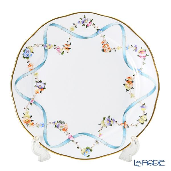 ヘレンド(HEREND) フラワーリボン 20524-0-00 プレート 25cm フラワーリボン(FLR) 皿 お皿 食器 ブランド 結婚祝い 内祝い