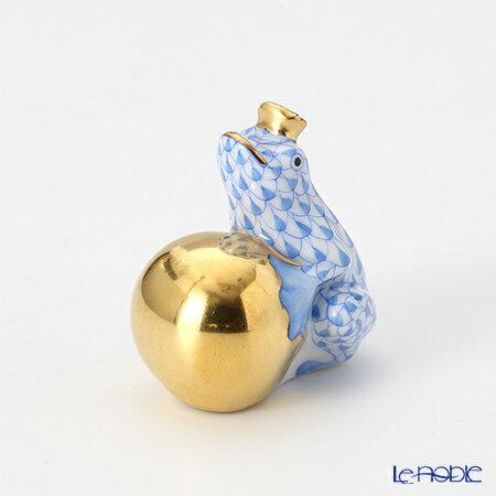 ヘレンド(HEREND)人形 15369-0-03 VHB カエルの王様 4cm ブルー【楽ギフ_包装選択】 VHコレクション フィギュリン 置物 オブジェ インテリア