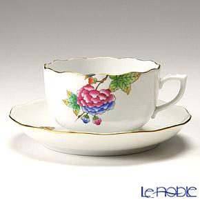 ヘレンド(HEREND) プティットヴィクトリア PV 20724-0-00/20724 ティーカップ&ソーサー 200cc おしゃれ かわいい 食器 ブランド 結婚祝い 内祝い