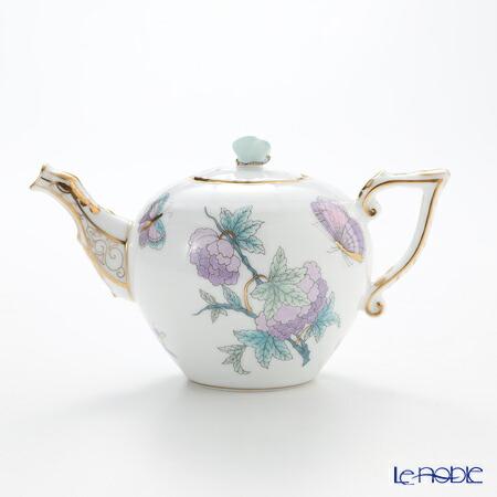 ヘレンド Herend Royal Garden Evict2 00608 0 17 Teapot Erfly Turquoise 400cc Chinoiserie