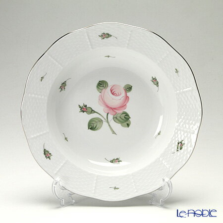 ヘレンド(HEREND) ウィーンのバラ プラチナ 00501-0-00 スーププレート 23cm【楽ギフ_包装選択】 皿 引き出物 結婚祝い 食器