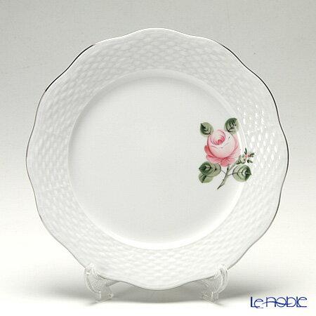 ヘレンド(HEREND) ウィーンのバラ プラチナ 00517-0-00 プレート 19cm【楽ギフ_包装選択】 皿 食器 おしゃれ ブランド