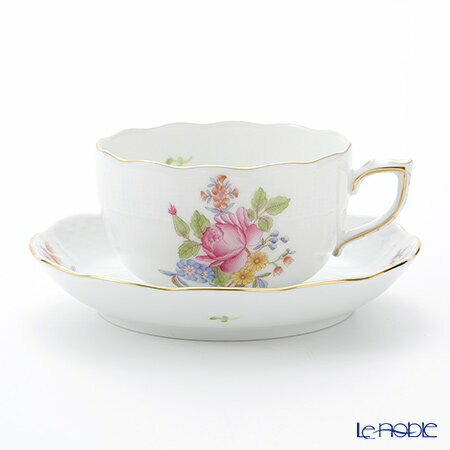 ヘレンド(HEREND) ブーケコルネリア HBC 00724-0-00 ティーカップ&ソーサー 200cc ブーケコルネリア(HBC) おしゃれ かわいい 食器 ブランド 結婚祝い 内祝い