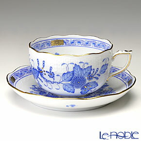 ヘレンド(HEREND) インドの華ブルー 00724-0-00/724 ティーカップ&ソーサー 200cc【楽ギフ_包装選択】 食器 おしゃれ ブランド