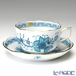 ヘレンド(HEREND) インドの華ターコイズ 00724-0-00/724 ティーカップ&ソーサー 200cc おしゃれ かわいい 食器 ブランド 結婚祝い 内祝い