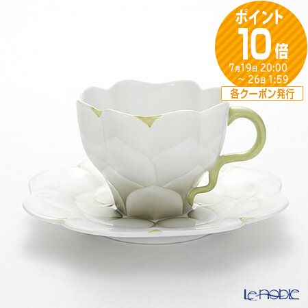 ヘレンド(HEREND) CAME3 04740-0-00 ティーカップ&ソーサー 200cc(グリーン) おしゃれ かわいい 食器 ブランド 結婚祝い 内祝い