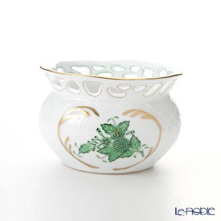ヘレンド(HEREND) アポニーグリーン 06526-0-00 ベース(透かし) 6.5cm【楽ギフ_包装選択】 花瓶 おしゃれ フラワーベース