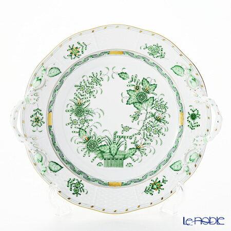 ヘレンド(HEREND) インドの華グリーン 00175-0-00 丸ケーキプレート 27cm【楽ギフ_包装選択】 皿 食器 おしゃれ ブランド