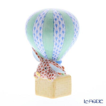 ヘレンド(HEREND)人形 05241-0-00 VHB+VH ウサギと熱気球 9cm【楽ギフ_包装選択】 VHコレクション フィギュリン 置物 オブジェ インテリア