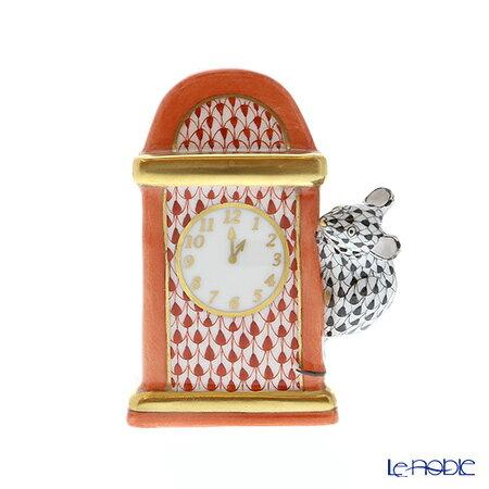 ヘレンド(HEREND)人形 05387-0-00 VH-VHNM ネズミと時計 7.5cm【楽ギフ_包装選択】 VHコレクション 置物 オブジェ フィギュリン インテリア
