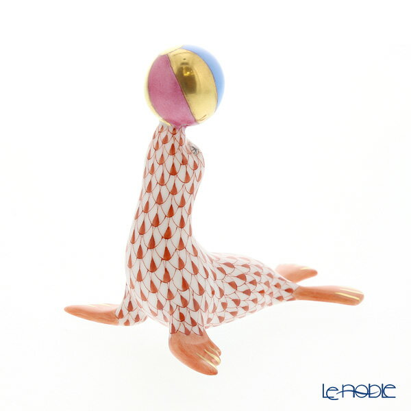 ヘレンド(HEREND)人形 VH 05543-0-00 アシカ レッド 8cm【楽ギフ_包装選択】 VHコレクション 新生活 フィギュリン 置物 オブジェ インテリア