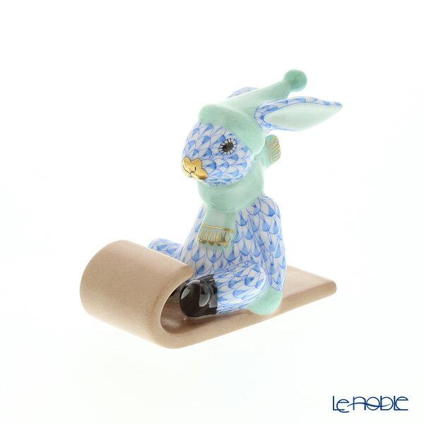 ヘレンド(HEREND)人形 VHB 05638-0-00 ウサギ(ソリ) 6.5cm【楽ギフ_包装選択】 VHコレクション フィギュリン 置物 オブジェ インテリア